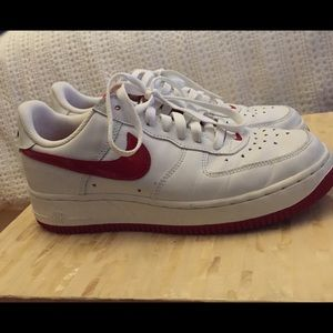Nike Air Force 1 Low Red-White with embroidery 8